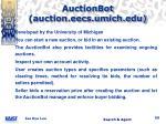 auctionbot auction eecs umich edu