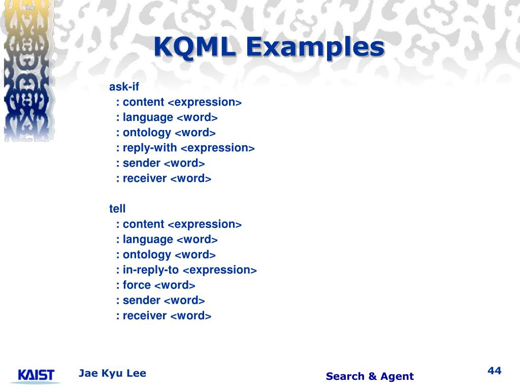KQML Examples