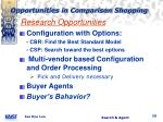 opportunities in comparison shopping