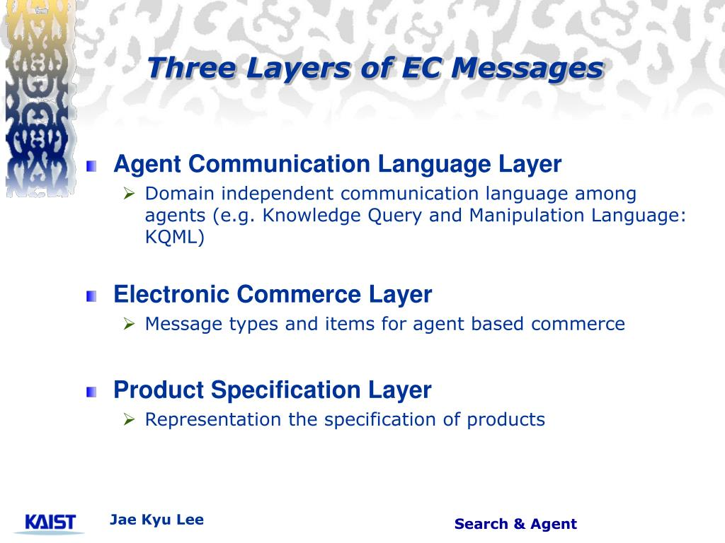 Three Layers of EC Messages