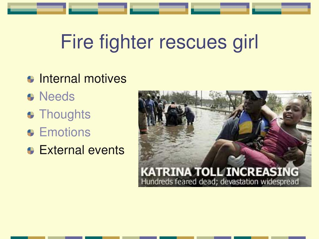 Fire fighter rescues girl