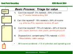 basic process triage for value