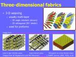 three dimensional fabrics