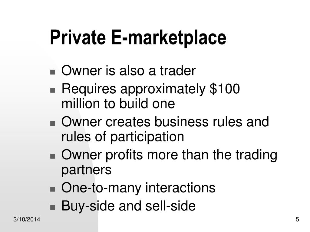 Private E-marketplace