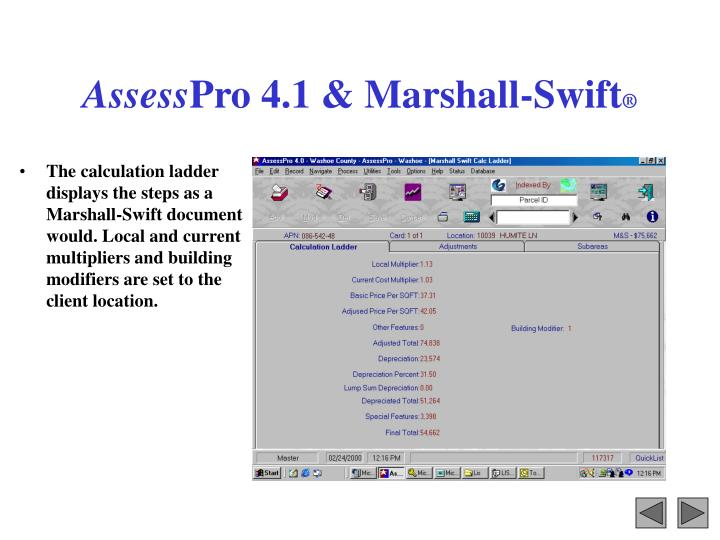 Assess pro 4 1 marshall swift3