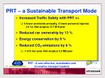 prt a sustainable transport mode