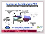 sources of benefits with prt