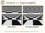 analytic vs supersampled