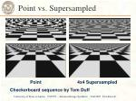 point vs supersampled
