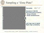 sampling a zone plate