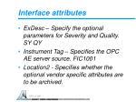 interface attributes