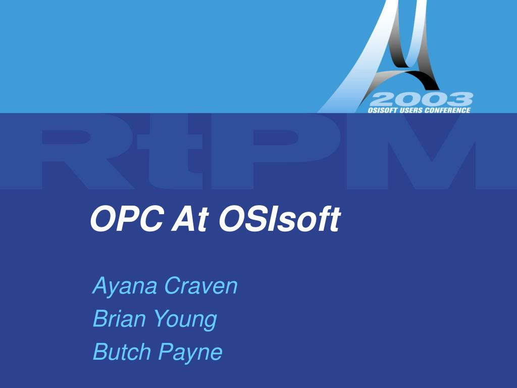 opc at osisoft l.