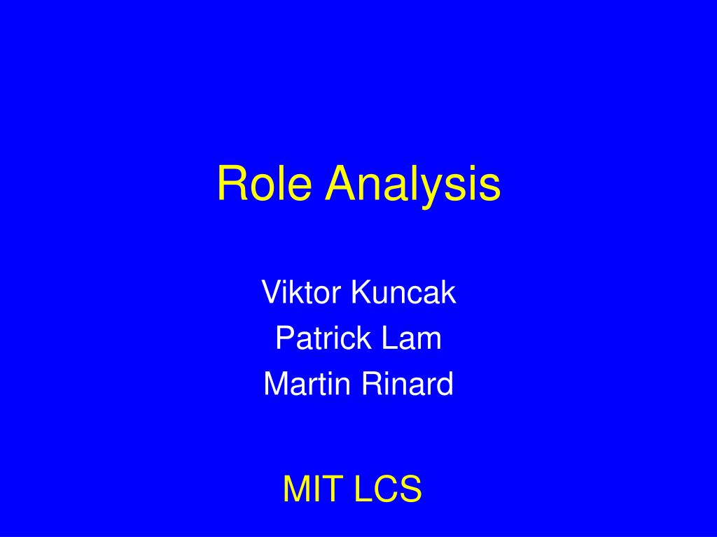 Role Analysis