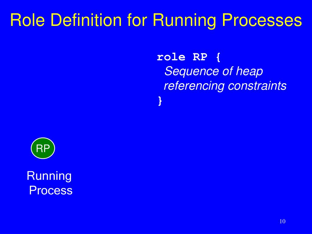 Role Definition for Running Processes