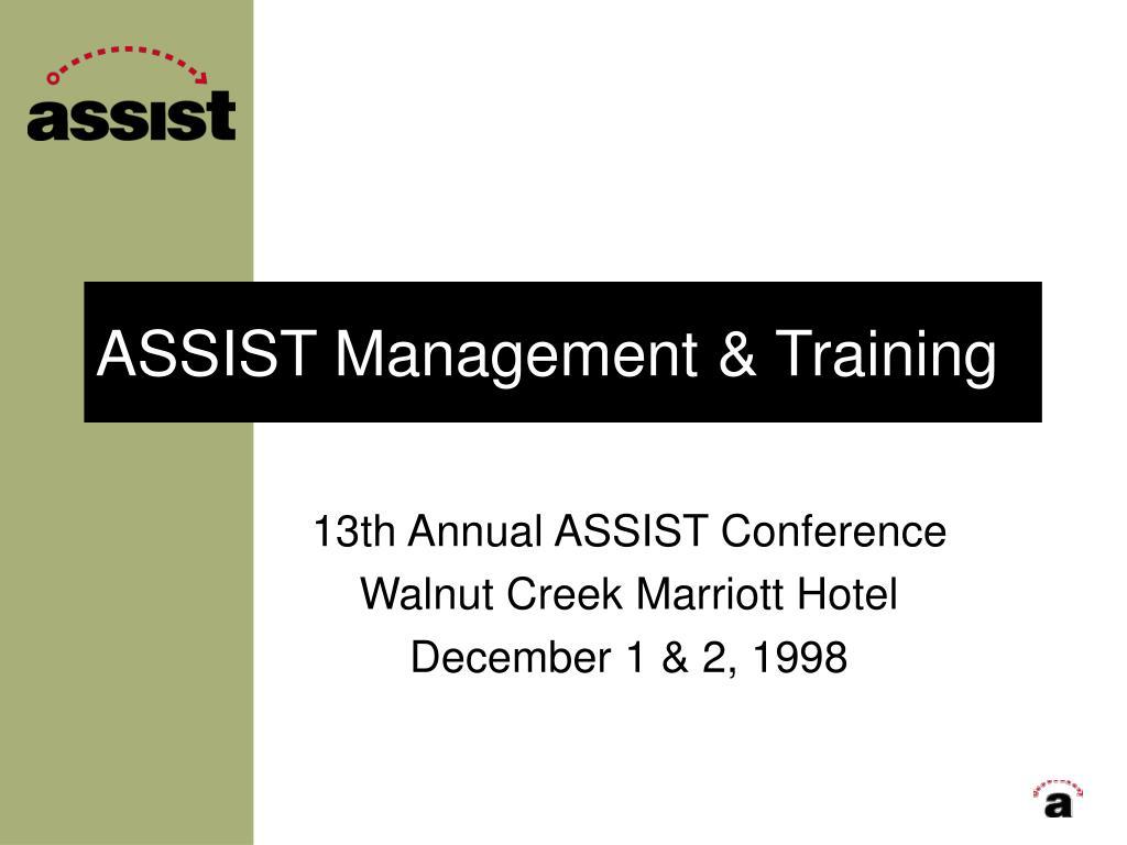 assist management training