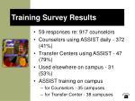 training survey results