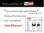 particularities of