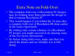 extra note on fold over