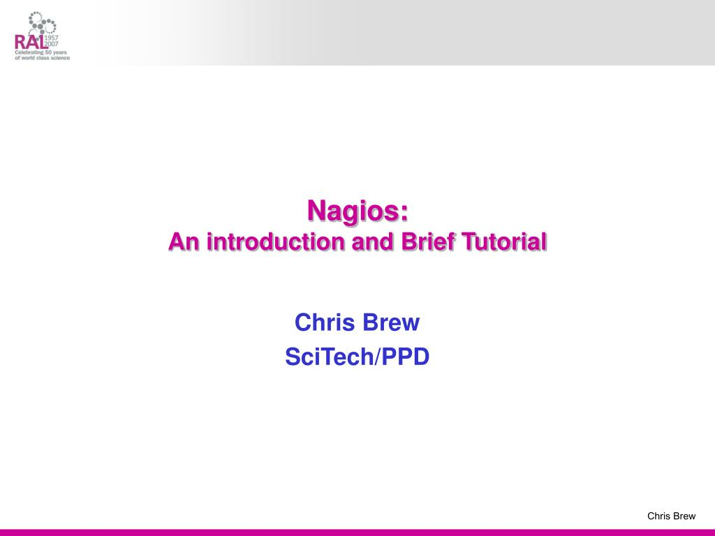 nagios an introduction and brief tutorial l.