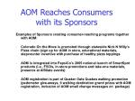 aom reaches consumers with its sponsors