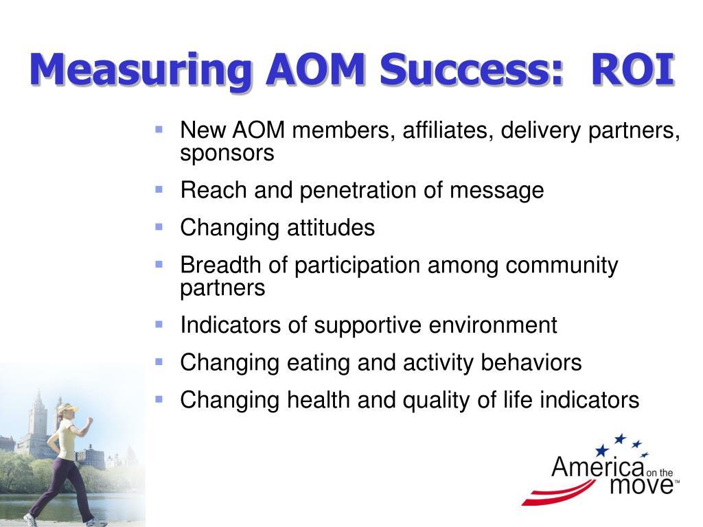 Measuring AOM Success:  ROI