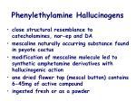 phenylethylamine hallucinogens