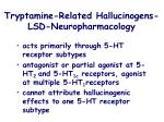 tryptamine related hallucinogens lsd neuropharmacology