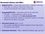 document aliases and urls