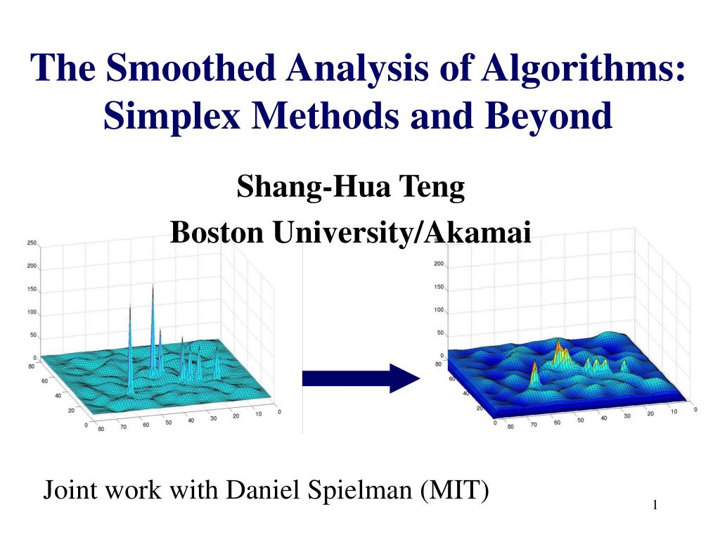 the smoothed analysis of algorithms simplex methods and beyond l.