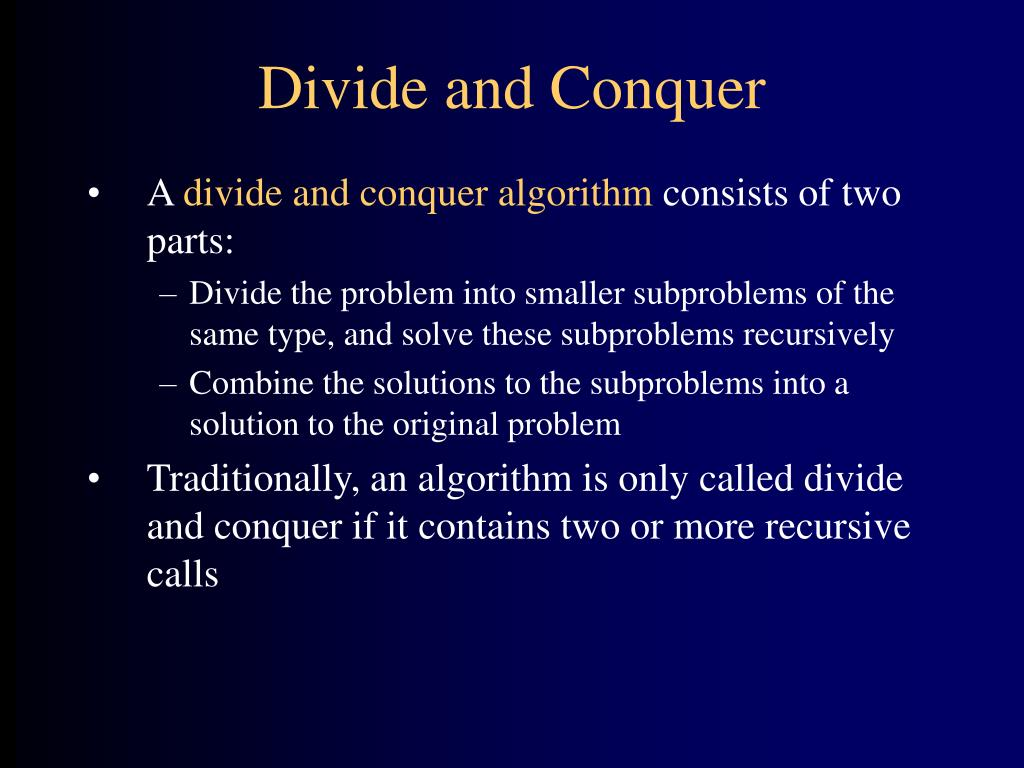 divide and conquer part a meet the root