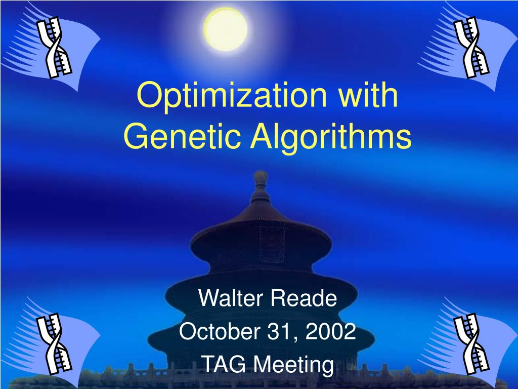 optimization with genetic algorithms l.