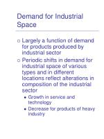 demand for industrial space