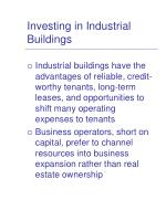 investing in industrial buildings