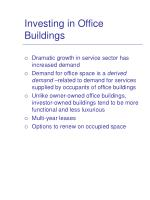 investing in office buildings