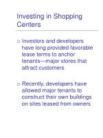 investing in shopping centers