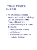 types of industrial buildings