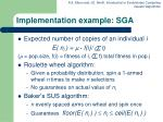 implementation example sga