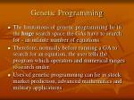 genetic programming33