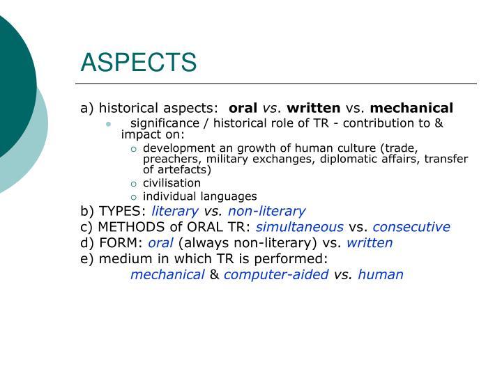 Aspects