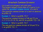 greatest common divisors