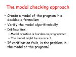 the model checking approach