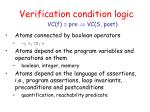 verification condition logic