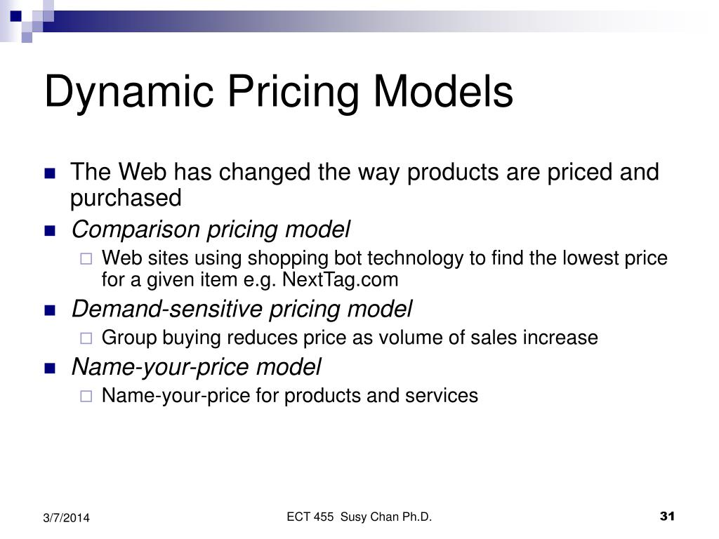 Dynamic Pricing Models