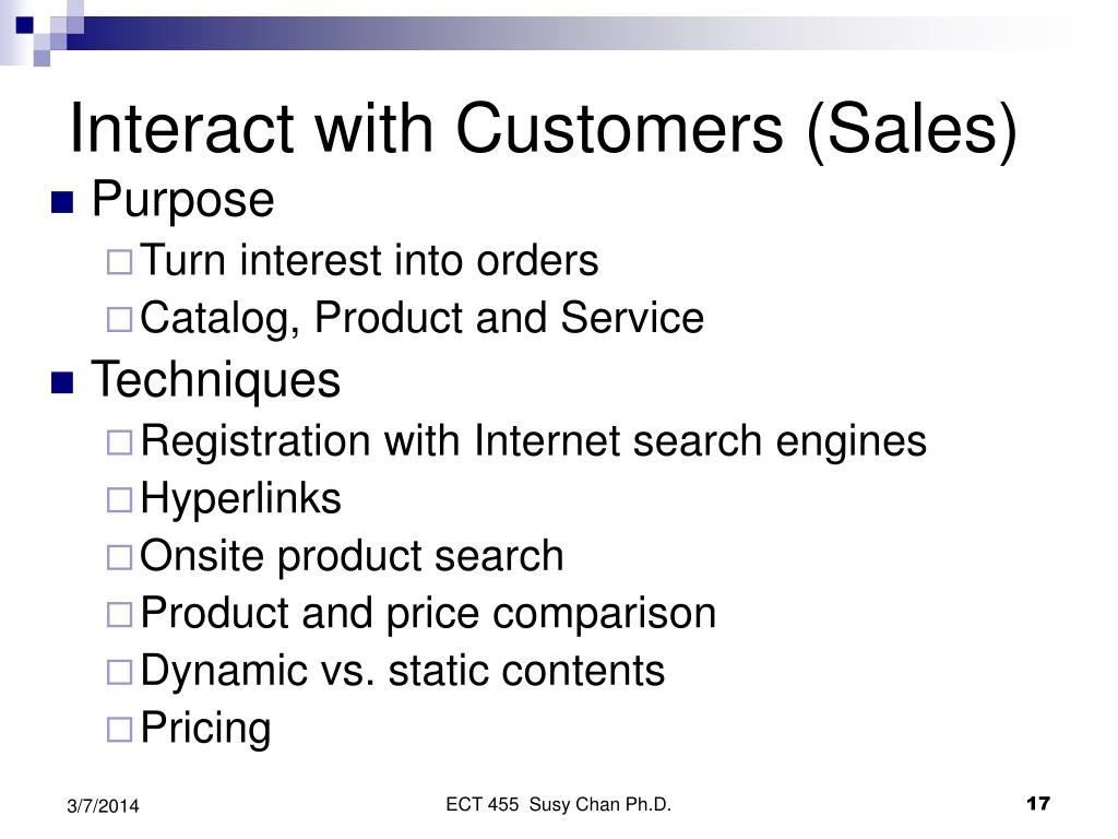 Interact with Customers (Sales)