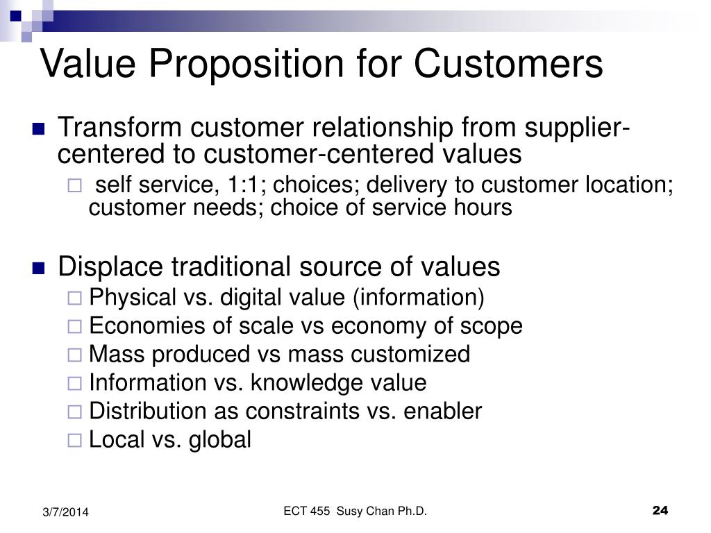 Value Proposition for Customers