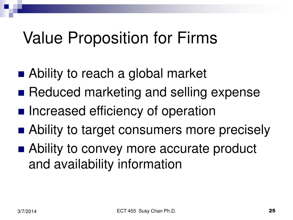 Value Proposition for Firms