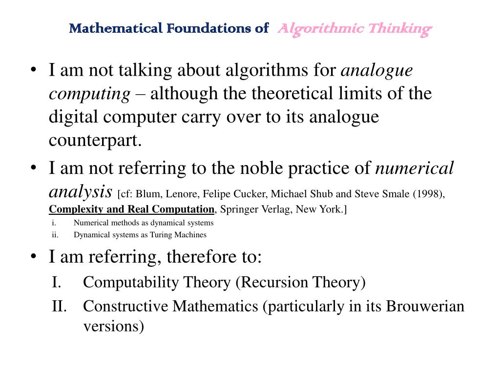 Mathematical Foundations of
