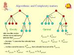 algorithmic and complexity matters50