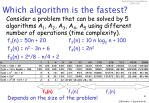 which algorithm is the fastest