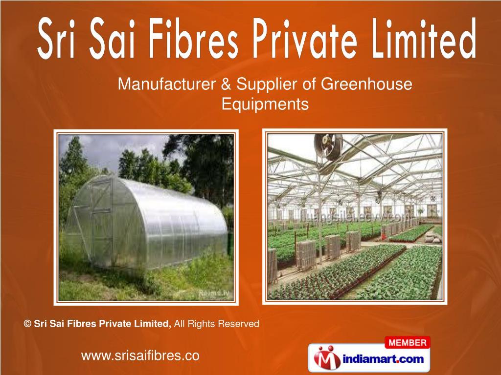 Manufacturer & Supplier of Greenhouse